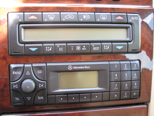 Mercedes Benz car stereo cassette repair and replacement
